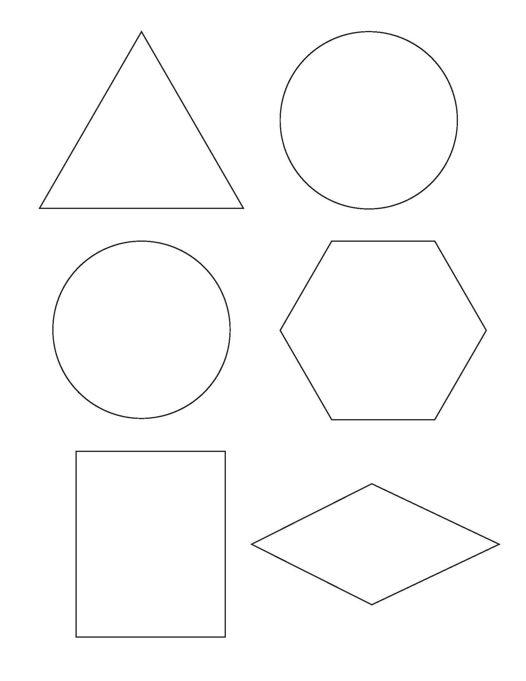 Free Printable Shapes Templates – Pazzo - Free Printable Shapes Templates