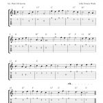 Free Printable Sheet Music: O Come, All Ye Faithful, Easy Free   Free Printable Guitar Tabs For Beginners