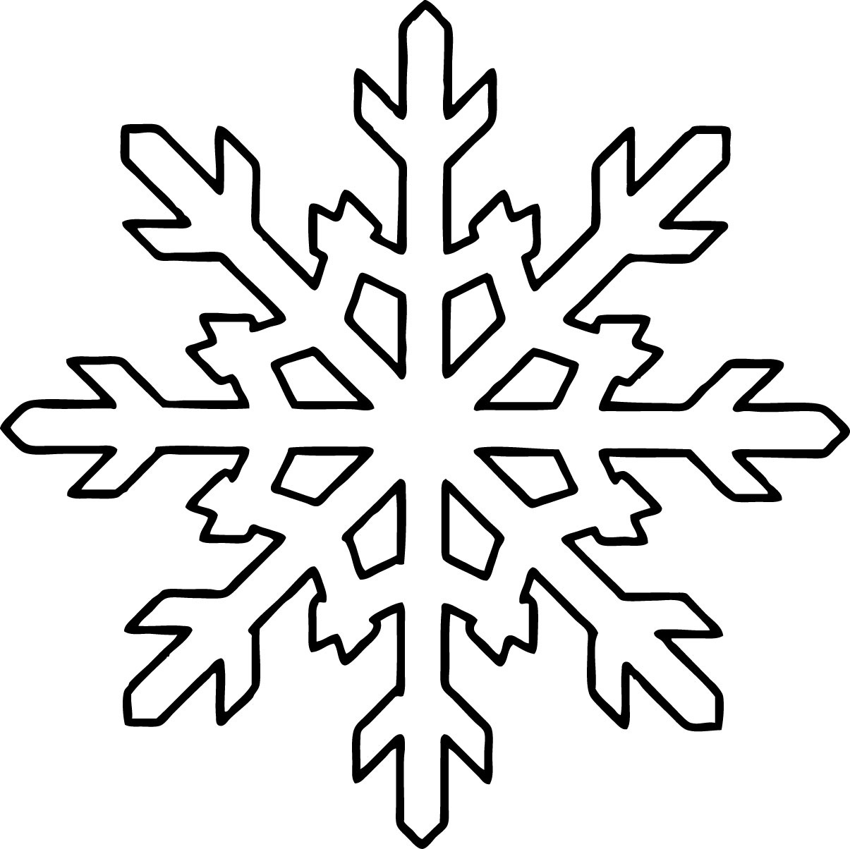 Free Printable Snowflake Coloring Pages For Kids - Free Printable Snowflakes