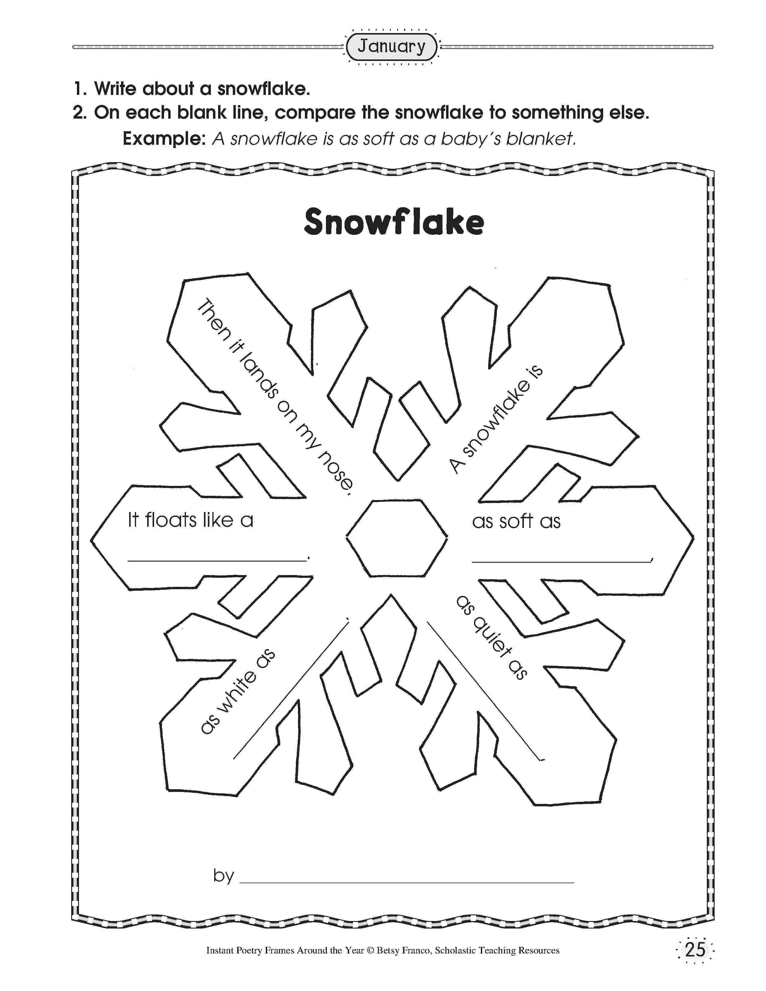 Free Printable Snowflake Template. Printable Snowflake Template - Snowflake Template Free Printable