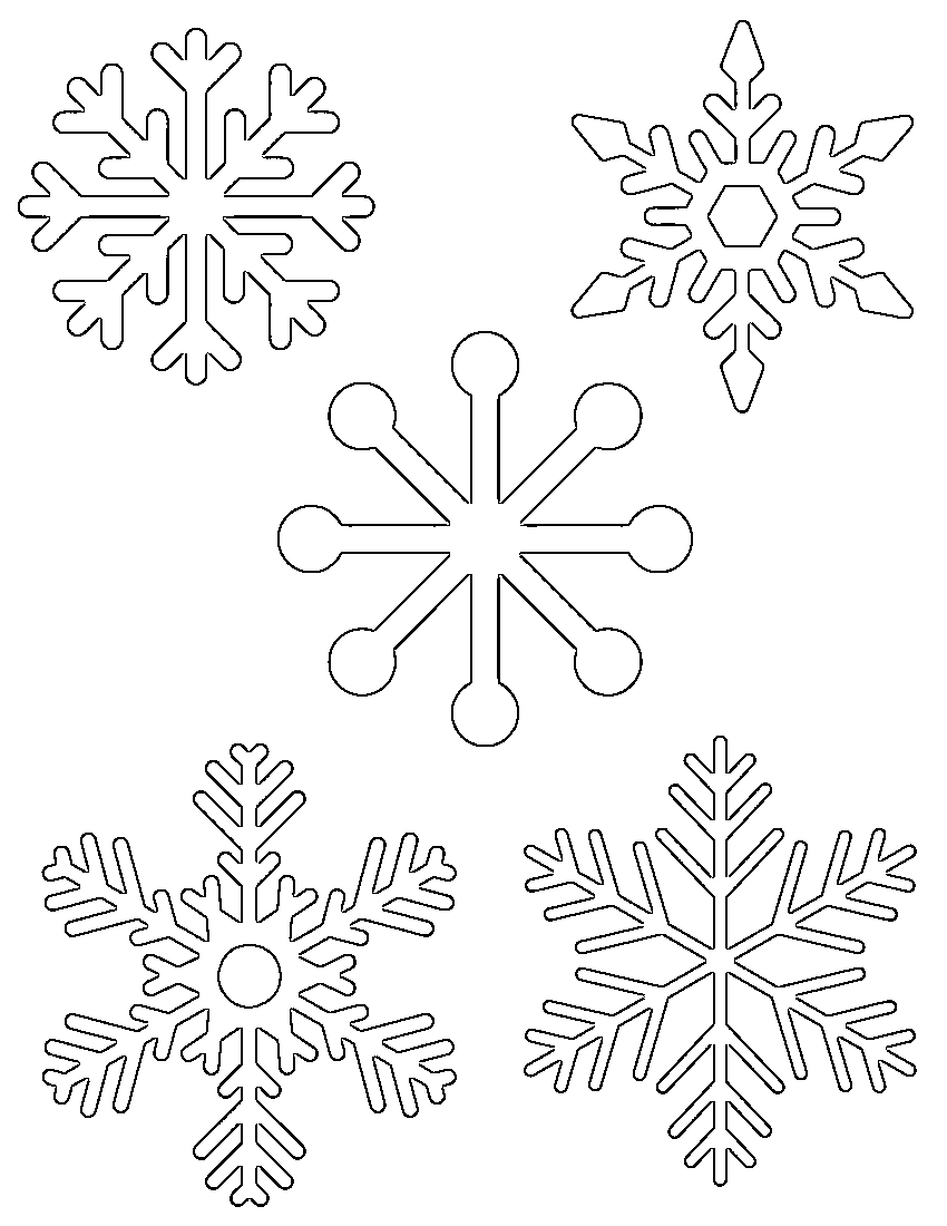 Free Printable Snowflake Templates – Large & Small Stencil Patterns - Snowflake Template Free Printable