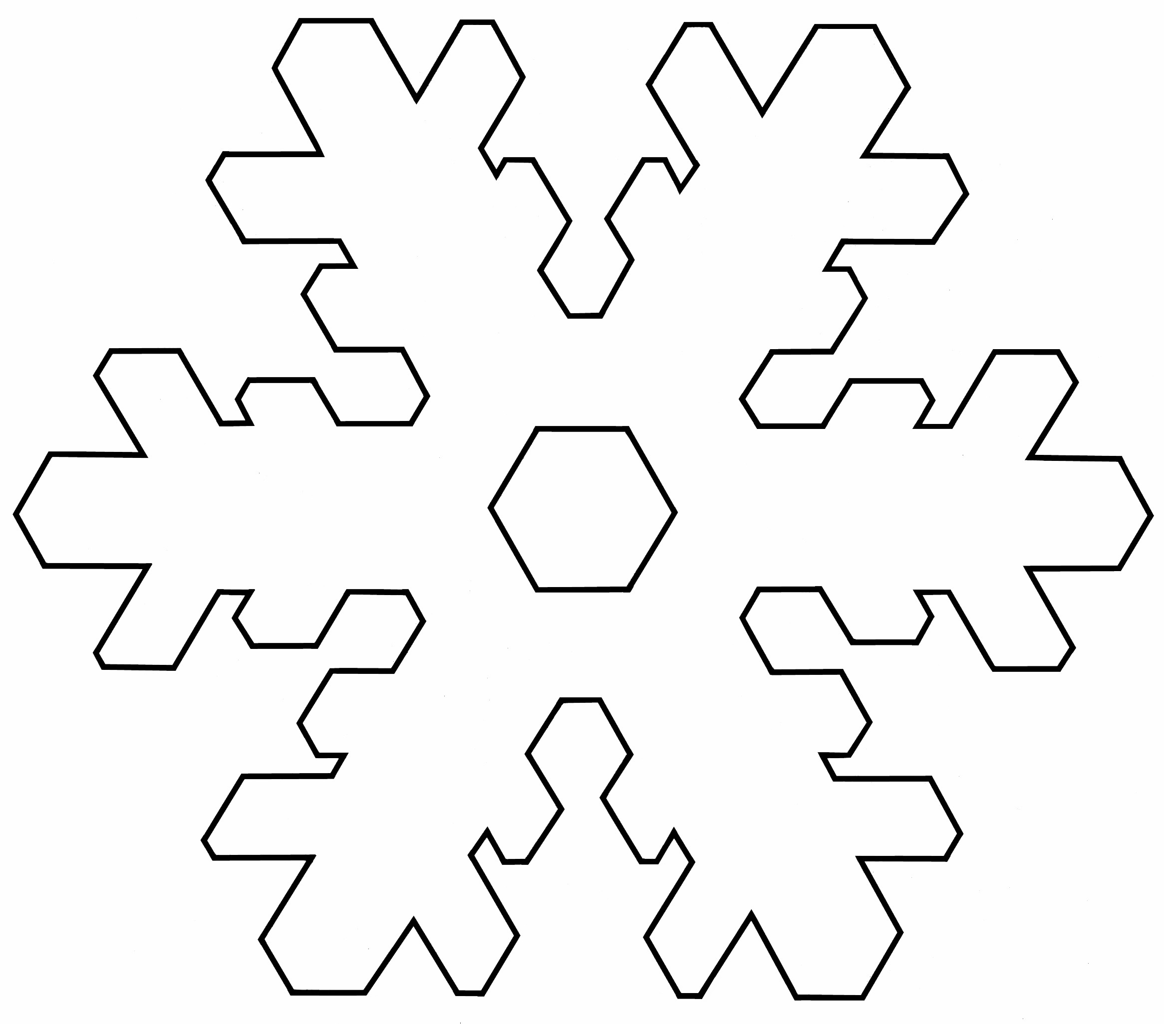 Free Printable Snowflake Templates. Paper Snowflake Pattern - Free Printable Snowflakes