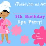 Free Printable Spa Party Invitations | Home Party Ideas   Free Printable Spa Party Invitations Templates