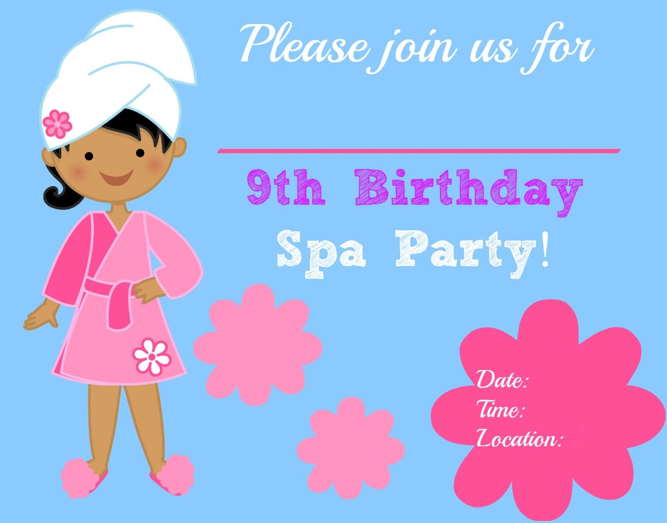Free Printable Spa Party Invitations | Home Party Ideas - Free Printable Spa Party Invitations Templates