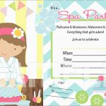 Free Printable Spa Party Invitations Templates Luxury Free Printable   Free Printable Spa Party Invitations Templates
