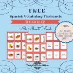 Free Printable Spanish Vocabulary Flashcards | Spanish | Spanish   Free Printable Vocabulary Flashcards