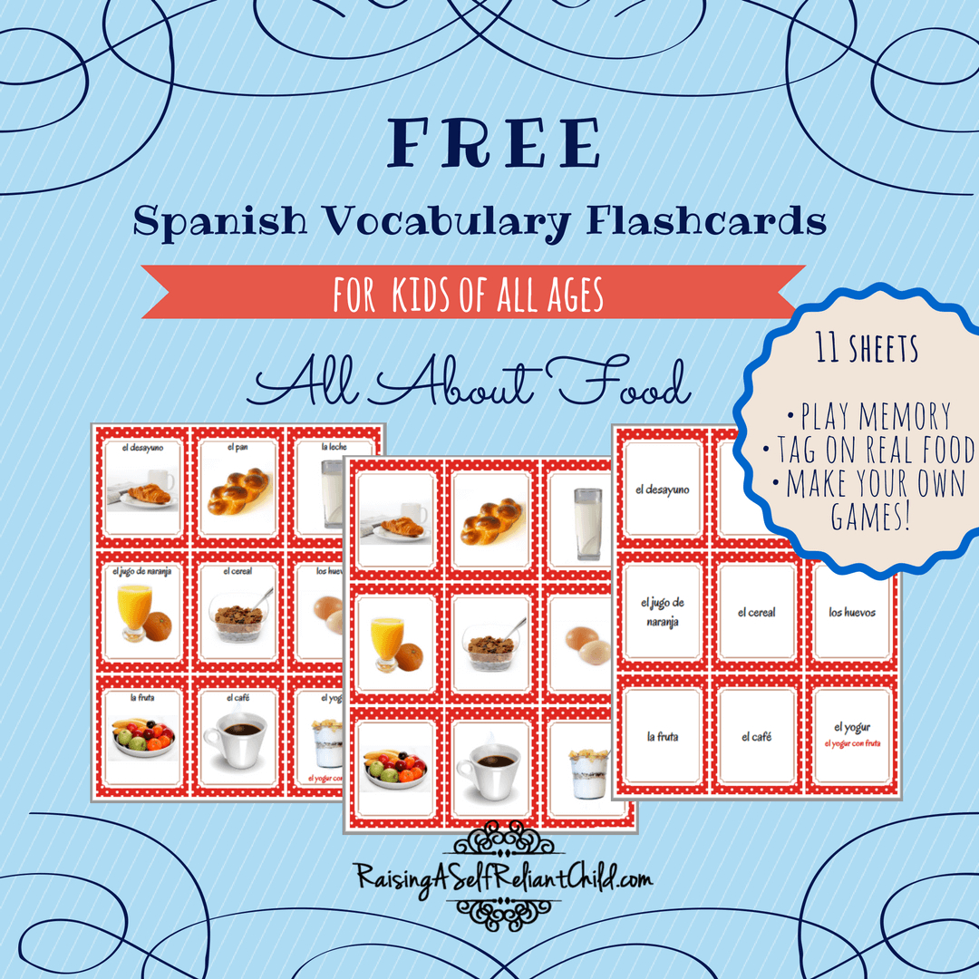 Free Printable Spanish Vocabulary Flashcards | Spanish | Spanish - Free Printable Vocabulary Flashcards