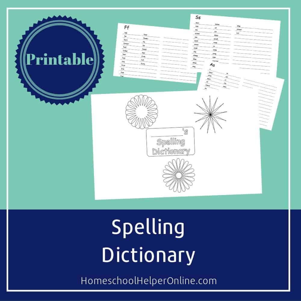 Free Printable Spelling Dictionary For Students - Homeschool Helper - My Spelling Dictionary Printable Free