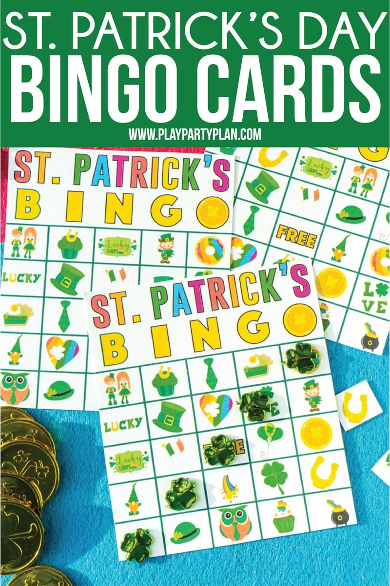Free Printable St. Patrick's Day Bingo Cards - Play Party Plan - Free Printable St Patrick's Day Card