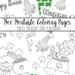 Free Printable St. Patrick's Day Coloring Pages: 4 Designs!   Free Printable St Patrick Day Coloring Pages
