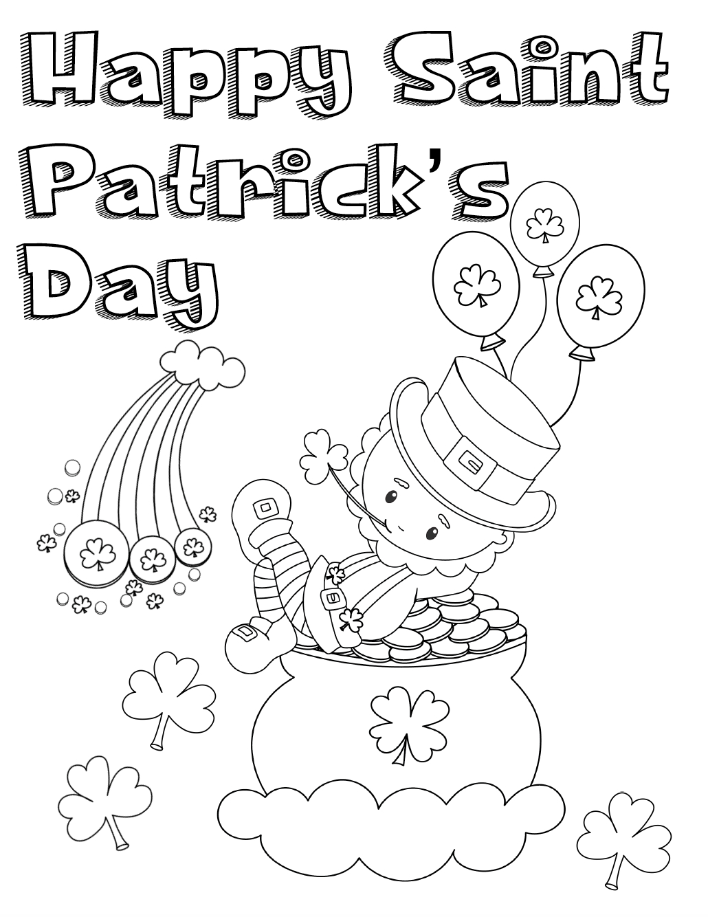 Free Printable St. Patrick's Day Coloring Pages: 4 Designs! - Free Printable St Patrick Day Coloring Pages