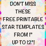 Free Printable Star Templates   The Artisan Life   Free Printable Stars