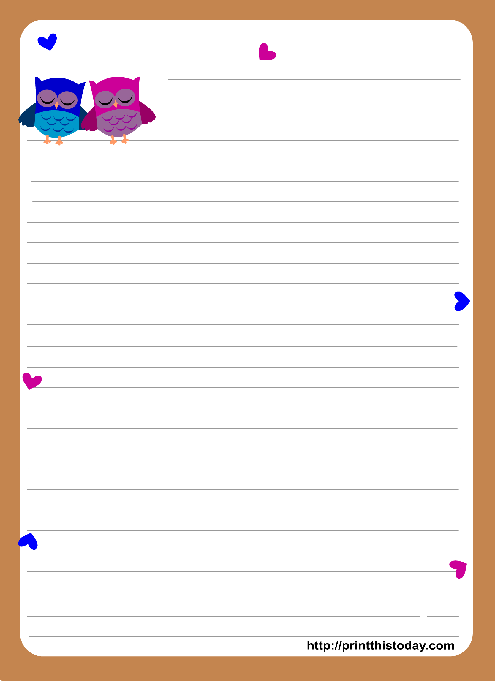 Free Printable Stationary | Stampabili ~ Printables | Writing Paper - Free Printable Stationary Pdf