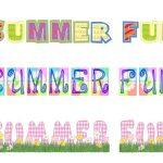 Free Printable Summer Clip Art   Summer Fun Free Scrapbook Printable   Free Printable Summer Clip Art