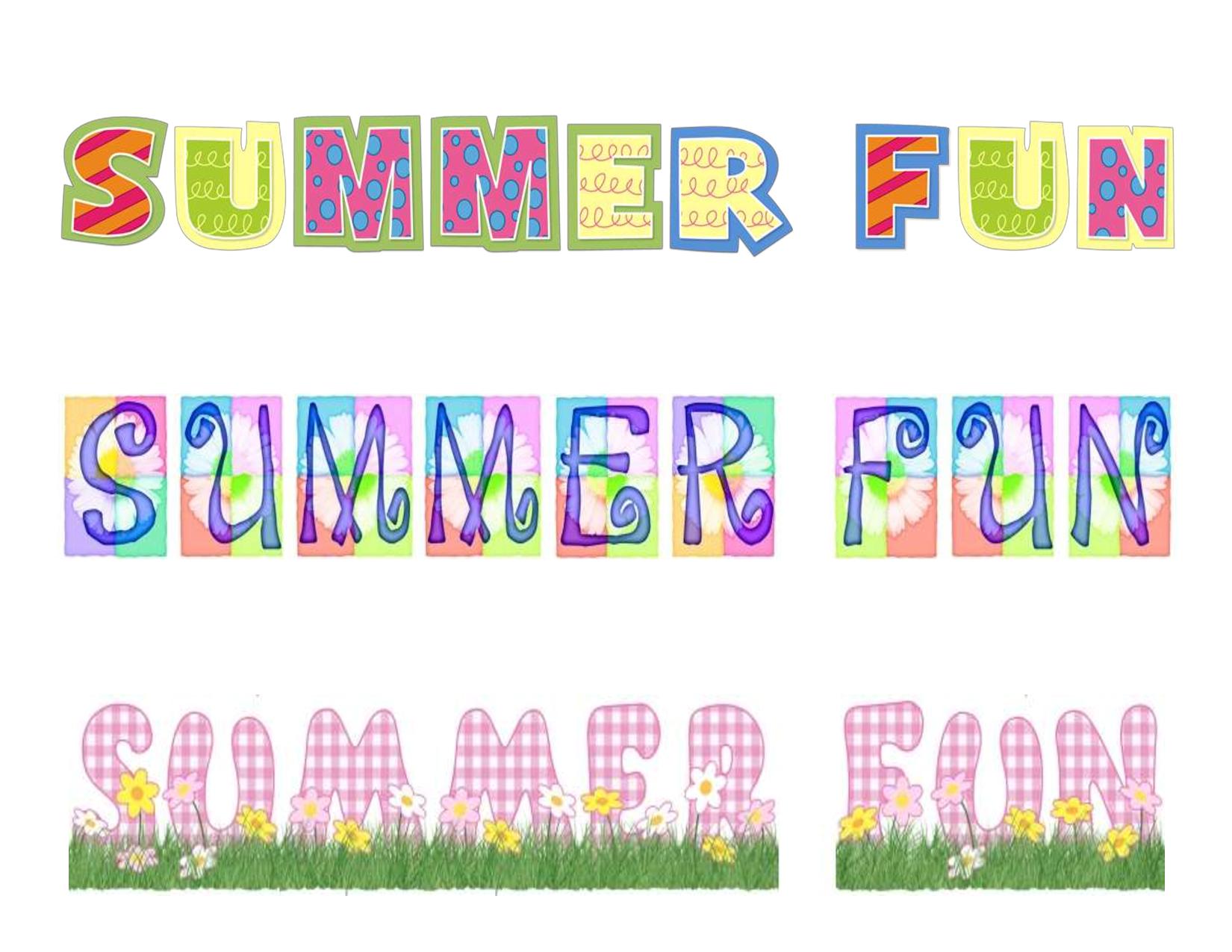 Free Printable Summer Clip Art | Summer Fun Free Scrapbook Printable - Free Printable Summer Clip Art