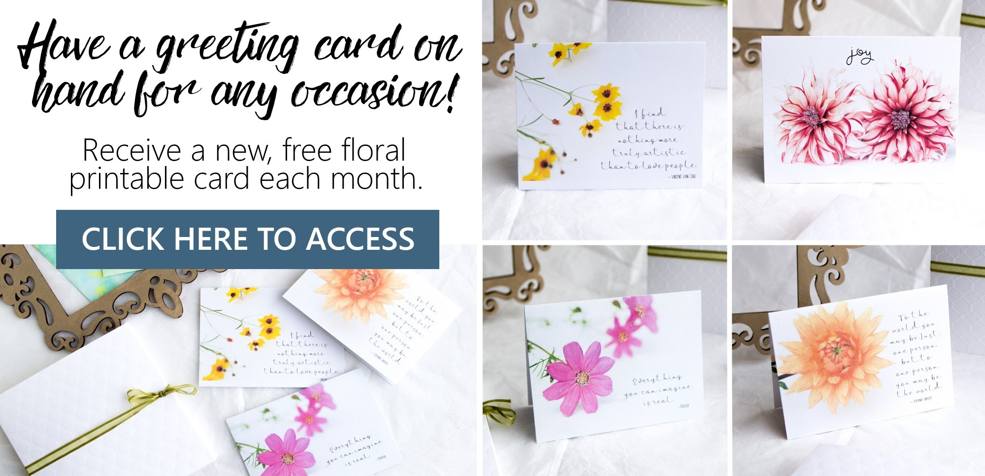 Free Printable Summer Flowers Greeting Cards – Sustain My Craft Habit - Free Printable Cards For All Occasions