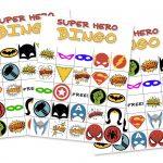 Free Printable Super Hero Bingo Party   Free Printable Superhero Photo Booth Props