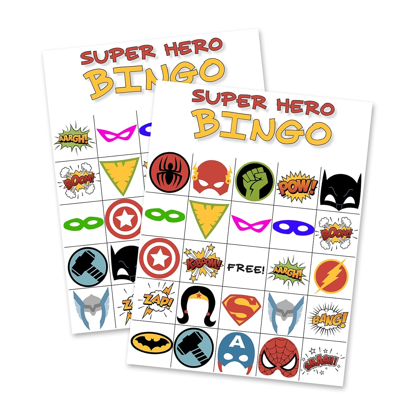 Free Printable Super Hero Bingo Party - Free Printable Superhero Pictures