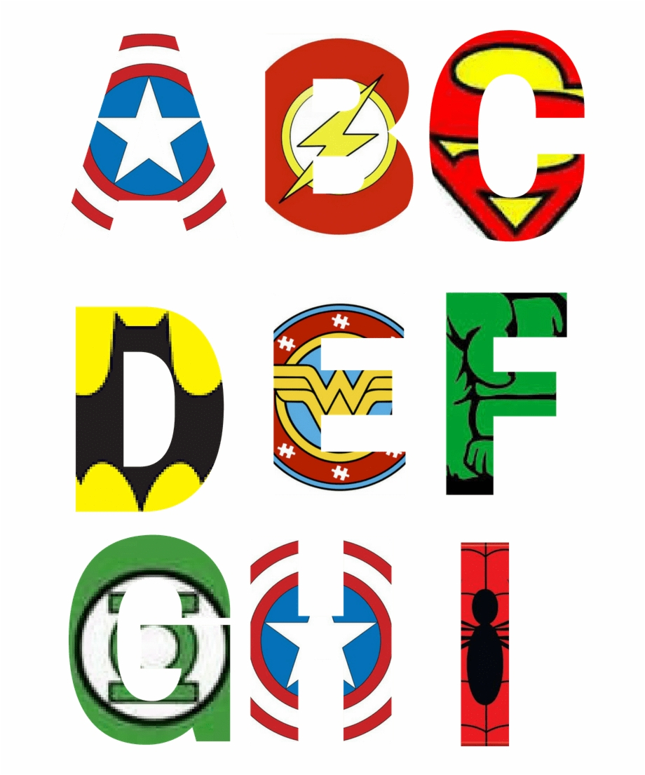Free Printable Superhero Alphabet Letters Party With - Free - Free Printable Superhero Pictures