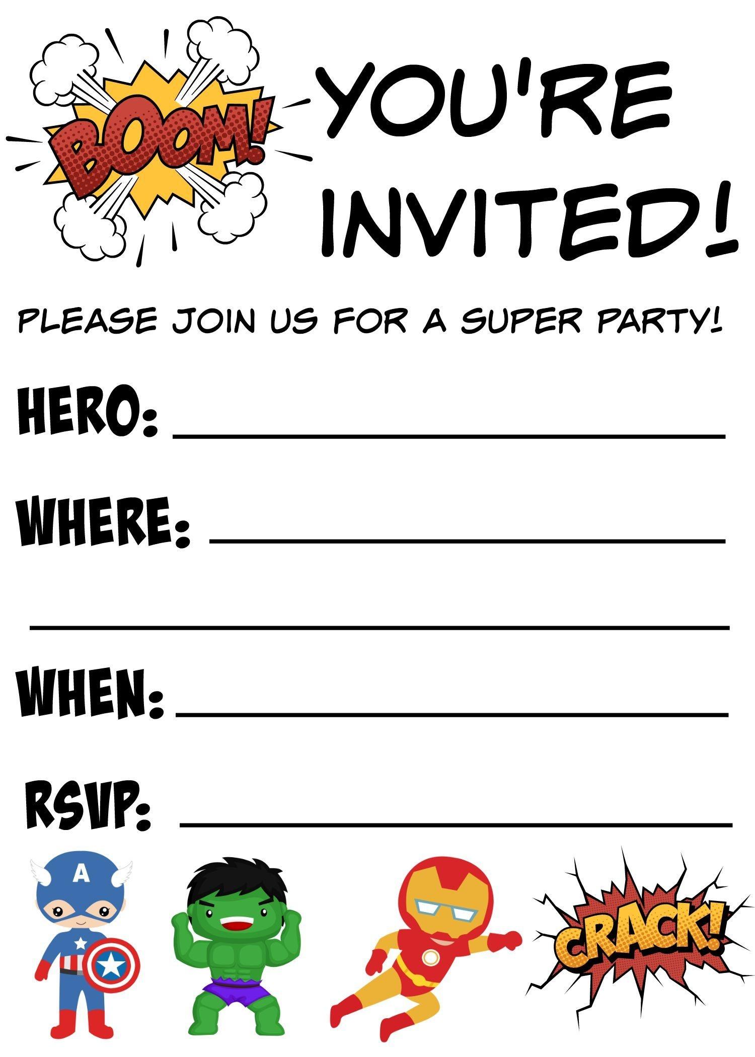 Free Printable Superhero Birthday Invitations   Birthdays - Free Printable Superman Invitations
