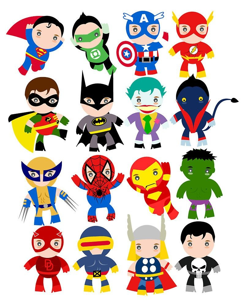 Free Printable Superhero Clipart | Ideias In 2019 | Superhero Party - Free Printable Superhero Pictures