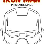 Free Printable Superhero Face Masks For Kids   Simple Mom Project   Free Printable Ironman Mask