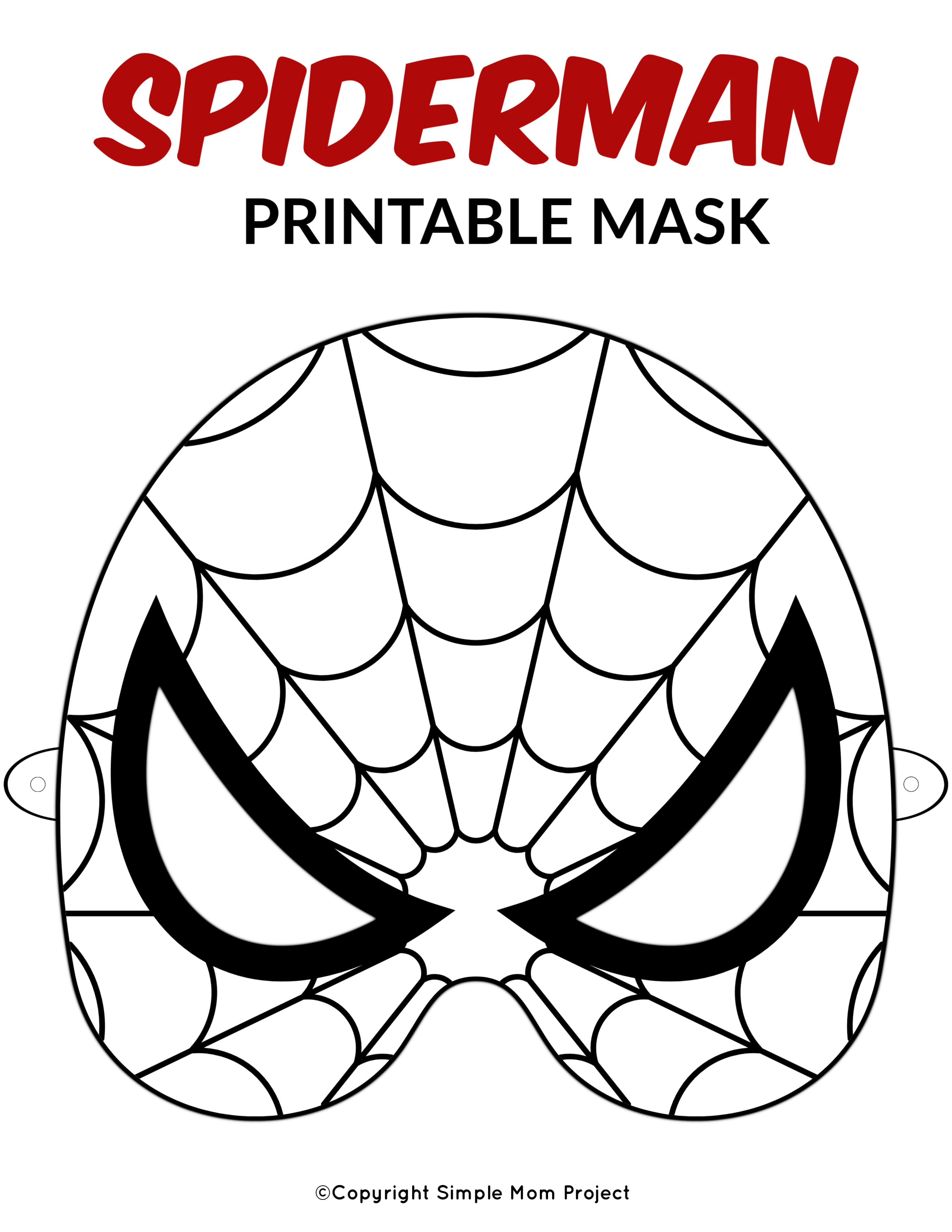 Free Printable Superhero Face Masks For Kids - Simple Mom Project - Free Printable Masks
