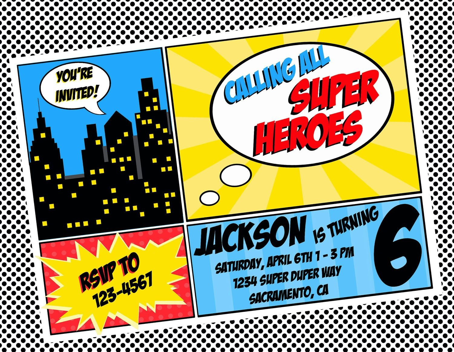 Free Printable Superhero Invitations - Tutlin.psstech.co - Free Printable Superman Invitations