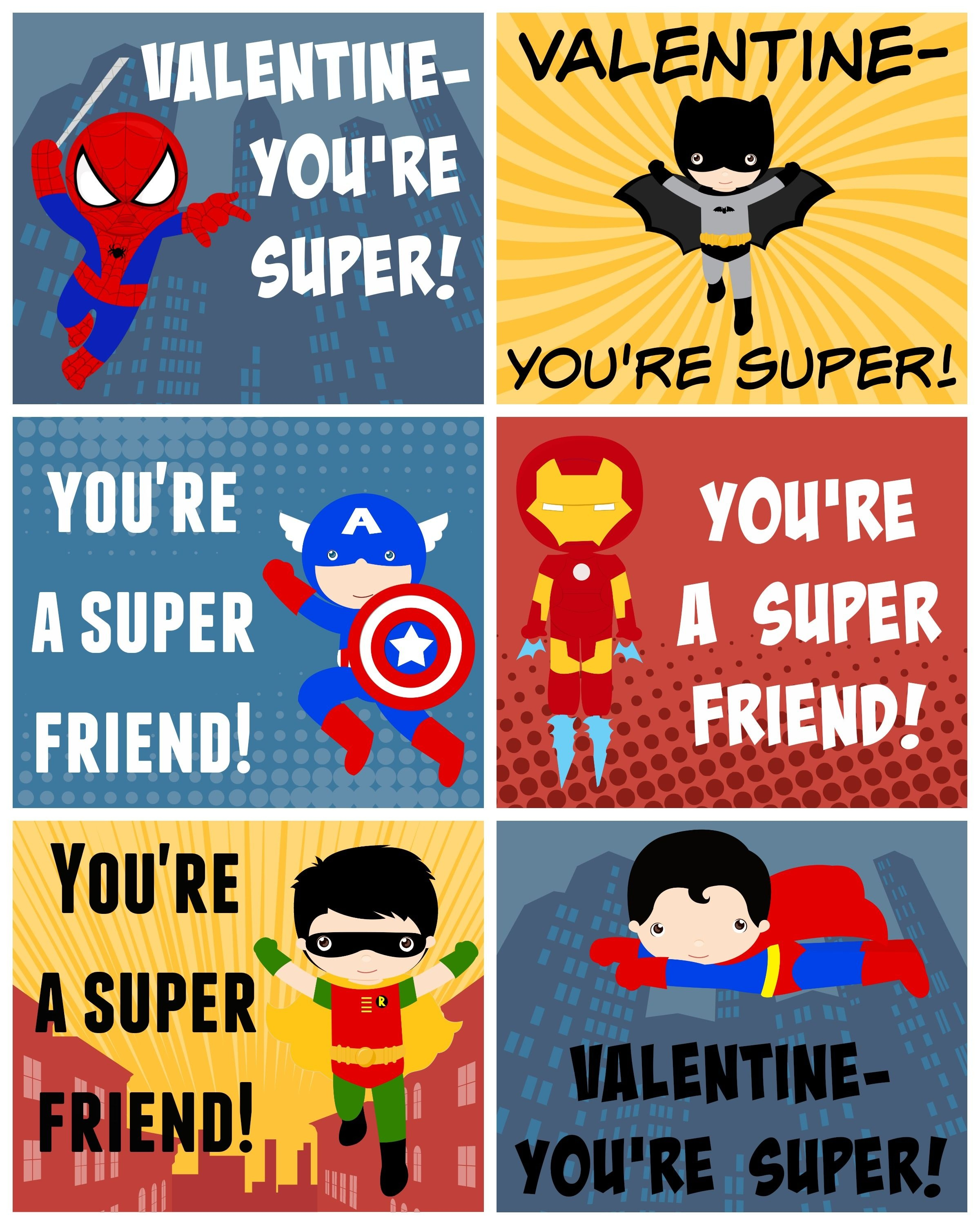 Free Printable Superhero Valentines | Bloggers' Best Diy Ideas - Free Printable Superman Valentine Cards