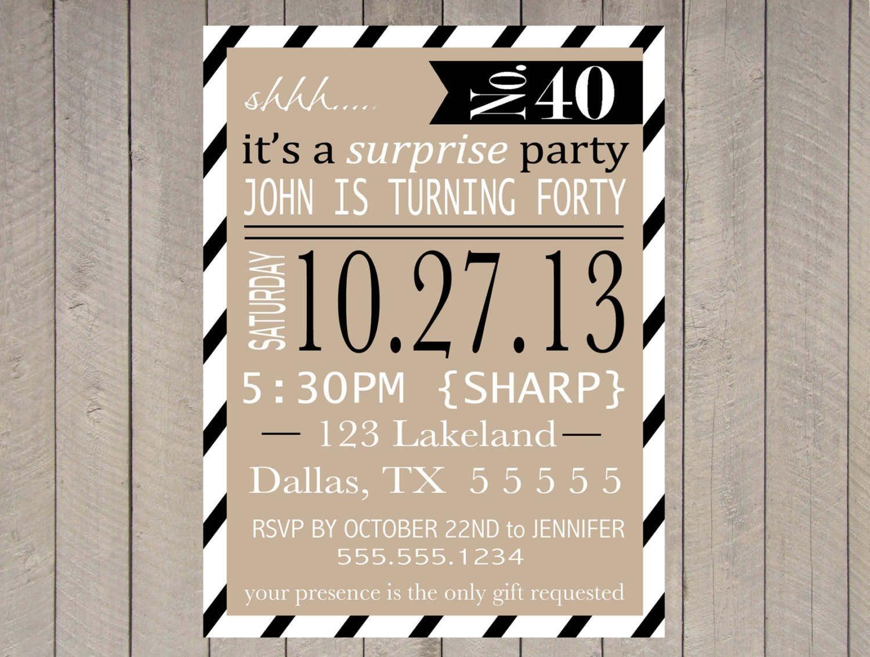 Free Printable Surprise Party Invitation Templates | Invitations In - Free Printable Surprise 60Th Birthday Invitations