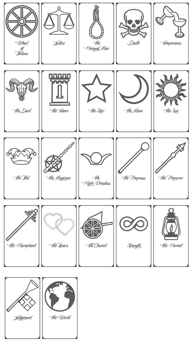 Free Printable Tarot Cards!keniakittykat On Deviantart - Printable Tarot Cards Pdf Free