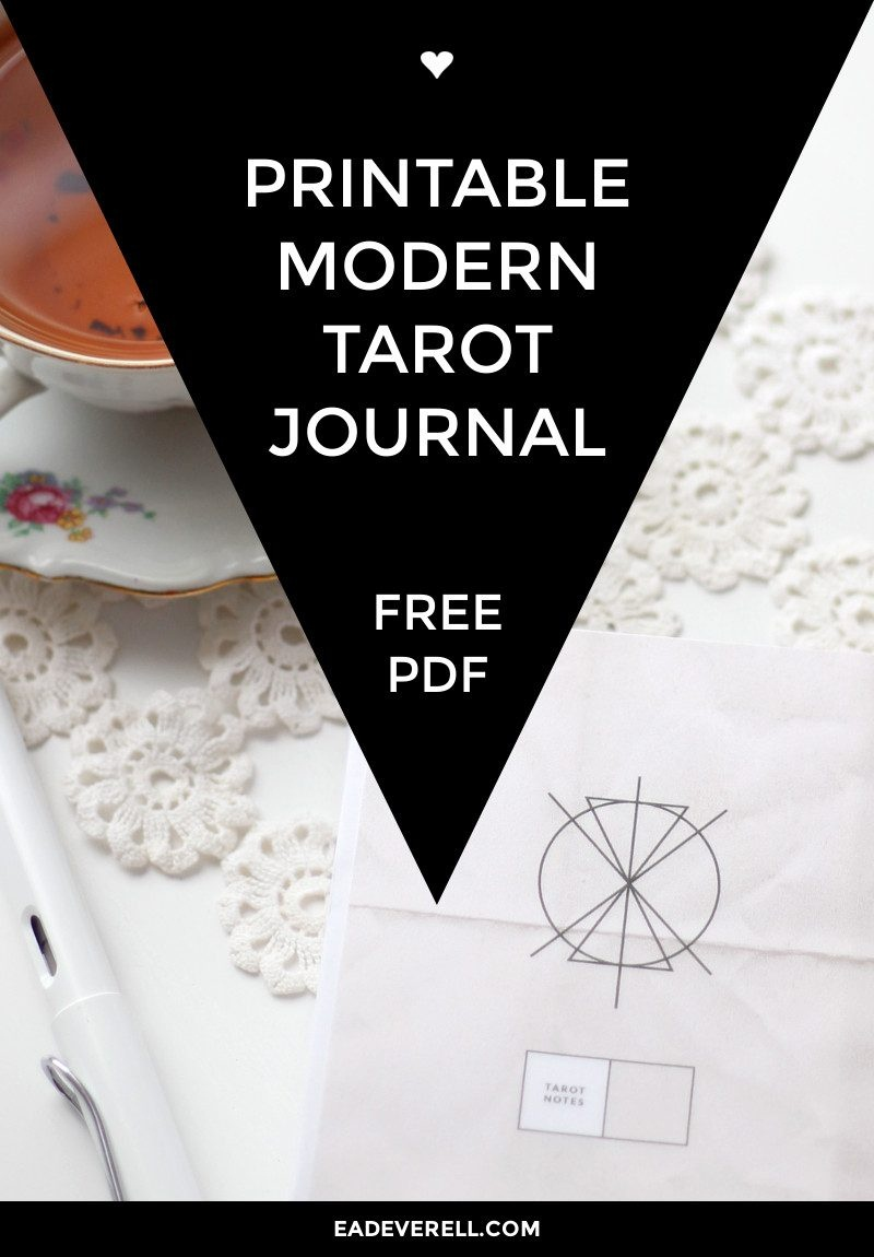 Free Printable Tarot Journal | Creative Writing Blog - Printable Tarot Cards Pdf Free