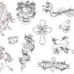 Free Printable Tattoo Flash | Album: Misc Flash Sheets Records 761   Free Printable Tattoo Flash