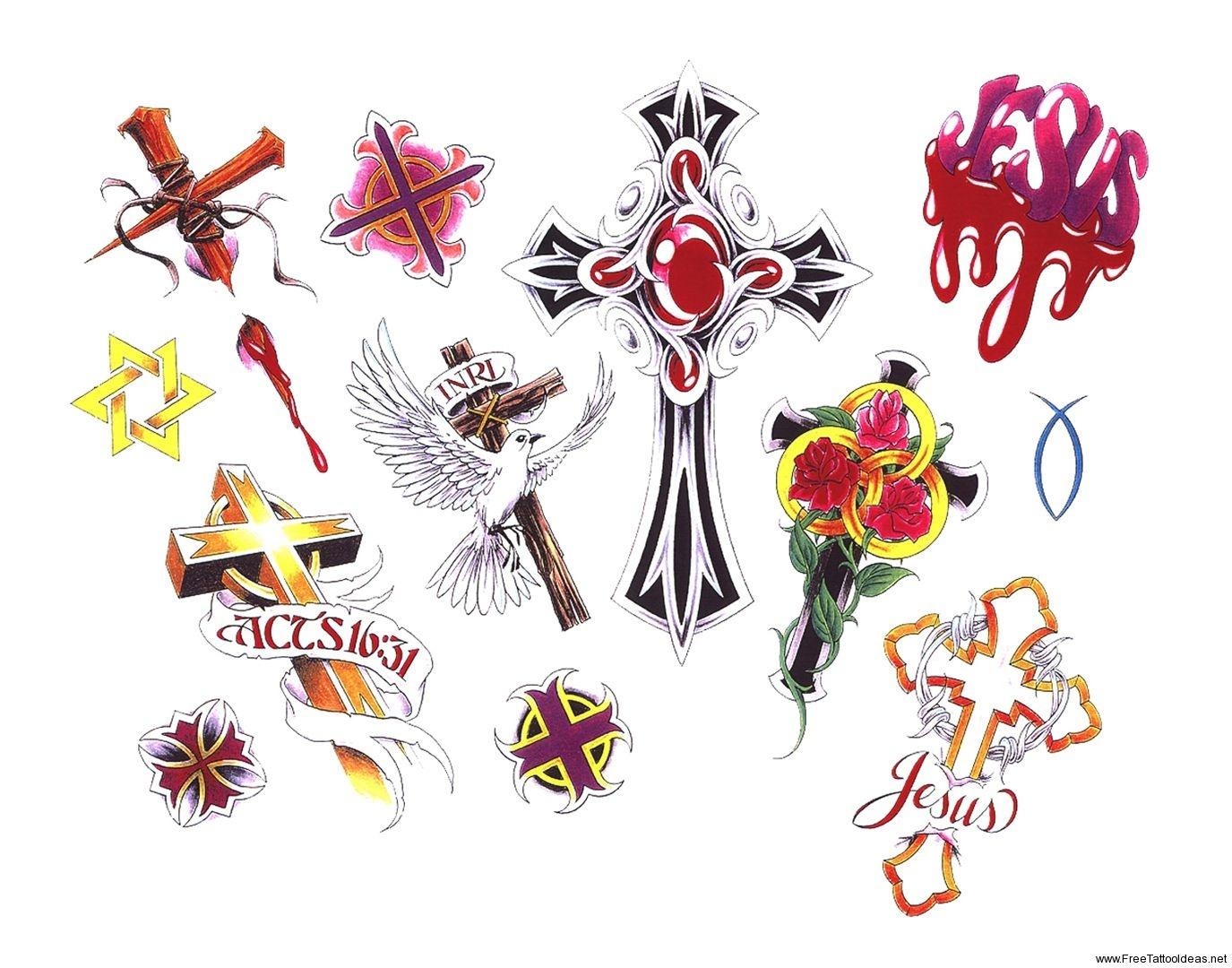 Free Printable Tattoo Flash   Cross Tattoos Designs - Free Cross - Free Printable Cross Tattoo Designs