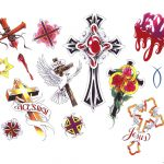 Free Printable Tattoo Flash | Cross Tattoos Designs   Free Cross   Free Printable Tattoo Flash