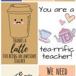 Free Printable Teacher Appreciation Thank You Cards | ✽ Back To   Free Teacher Appreciation Week Printable Cards