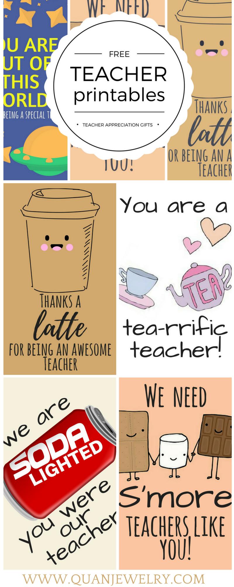 Free Printable Teacher Appreciation Thank You Cards | ✽ Back To - Free Teacher Appreciation Week Printable Cards