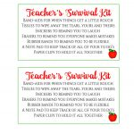 Free Printable} Teacher Survival Kit   Leah With Love   Teacher Survival Kit Free Printable