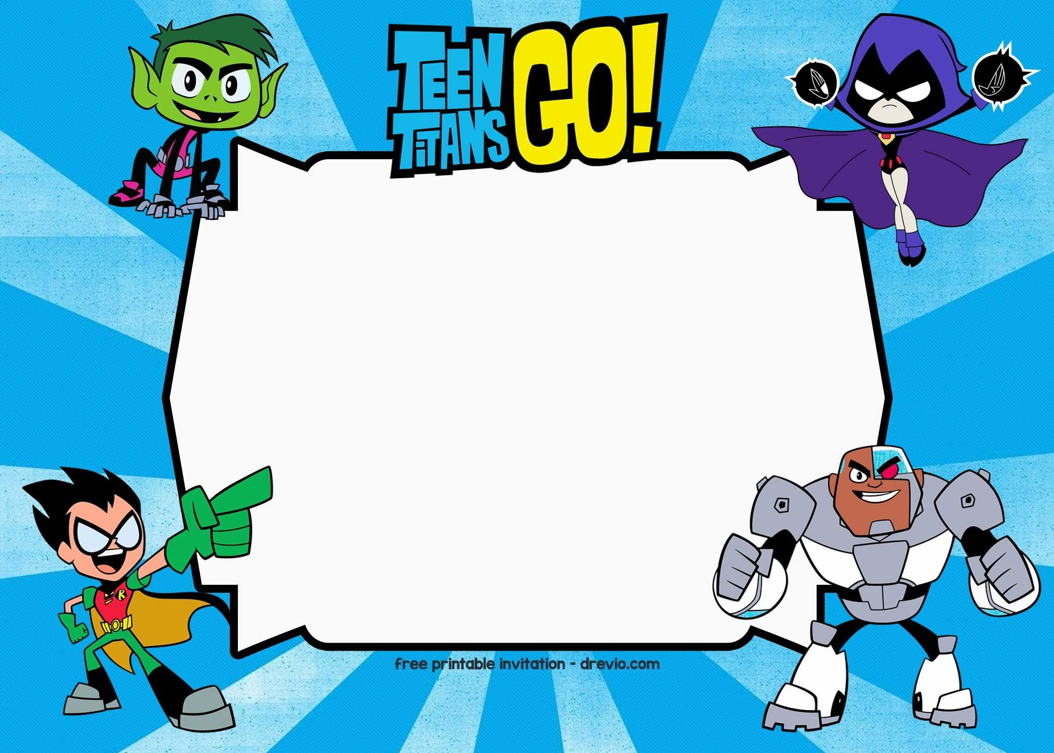Free Printable Teen Titans Go Birthday Invitation | Free - Free Printable Superhero Birthday Invitation Templates