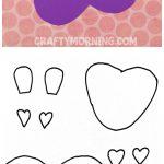 Free Printable Templates Of Heart Shape Animals   Crafty Morning   Free Printable Heart Templates