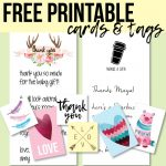 Free Printable Thank You Cards And Tags For Favors And Gifts! | Baby   Free Printable Baby Shower Thank You Cards