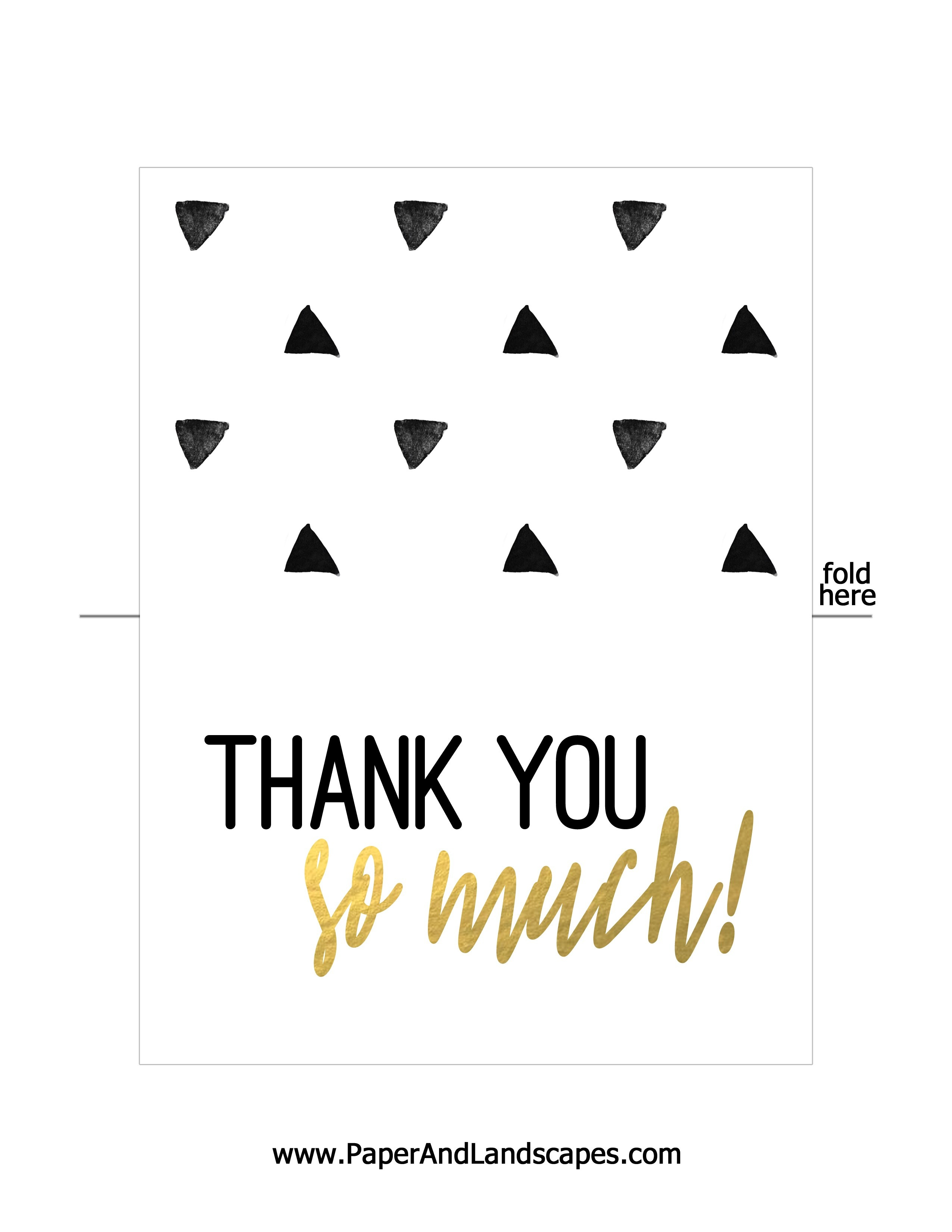 Free Printable Thank You Cards - Paper And Landscapes - Free Printable Custom Thank You Cards