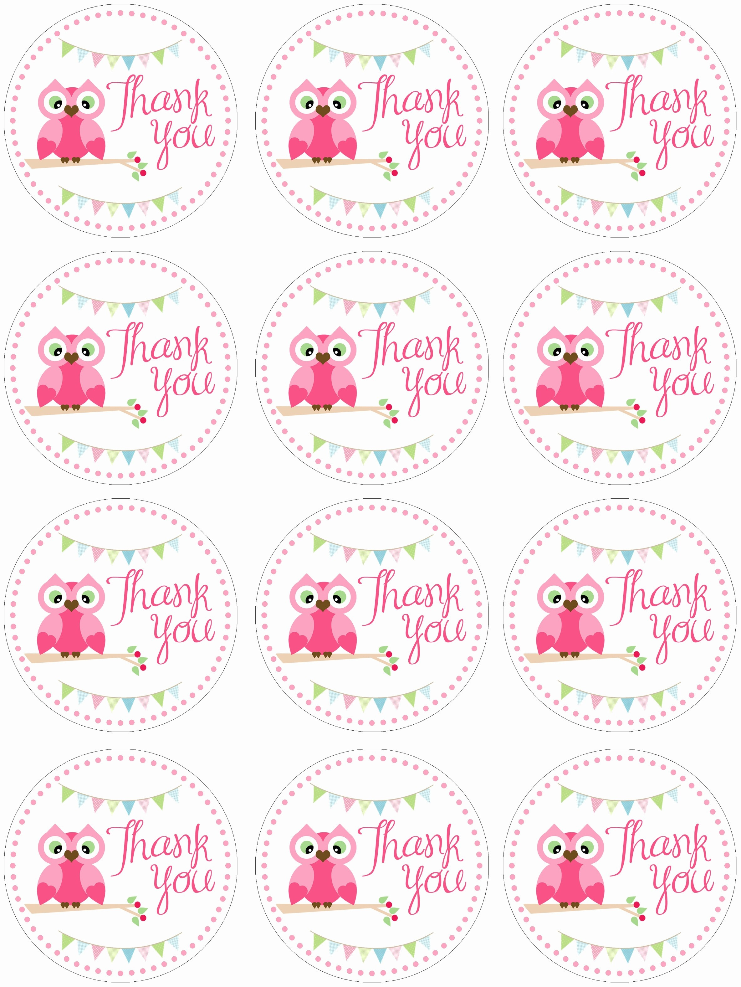 Free Printable Thank You Stickers – Pictimilitude - Free Printable Thank You Tags Template