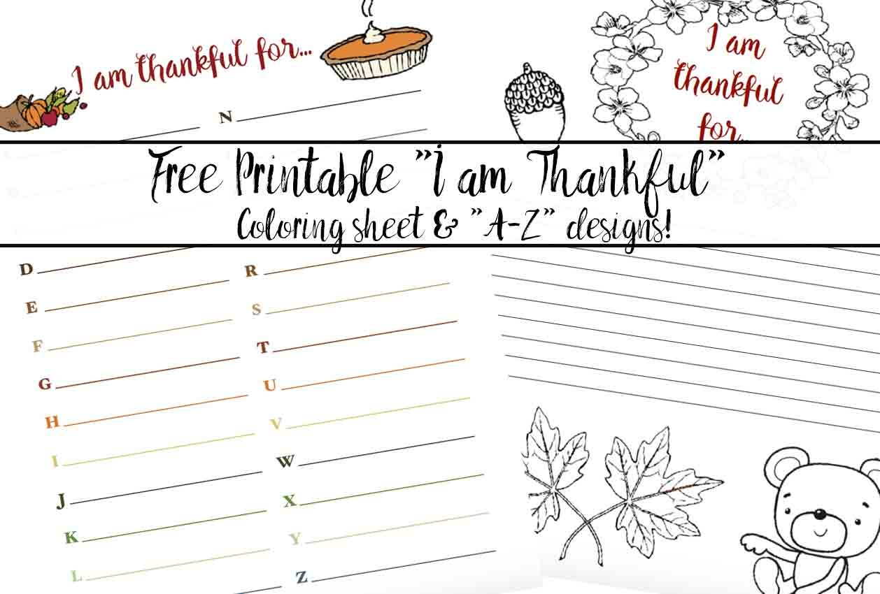 "Free Printable ""thankful For"" Worksheet: 2 Designs - Free Printable Thanksgiving Writing Paper"