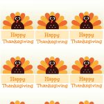 Free Printable Thanksgiving Place Cards    Also Great For Cupcake   Happy Thanksgiving Cards Free Printable