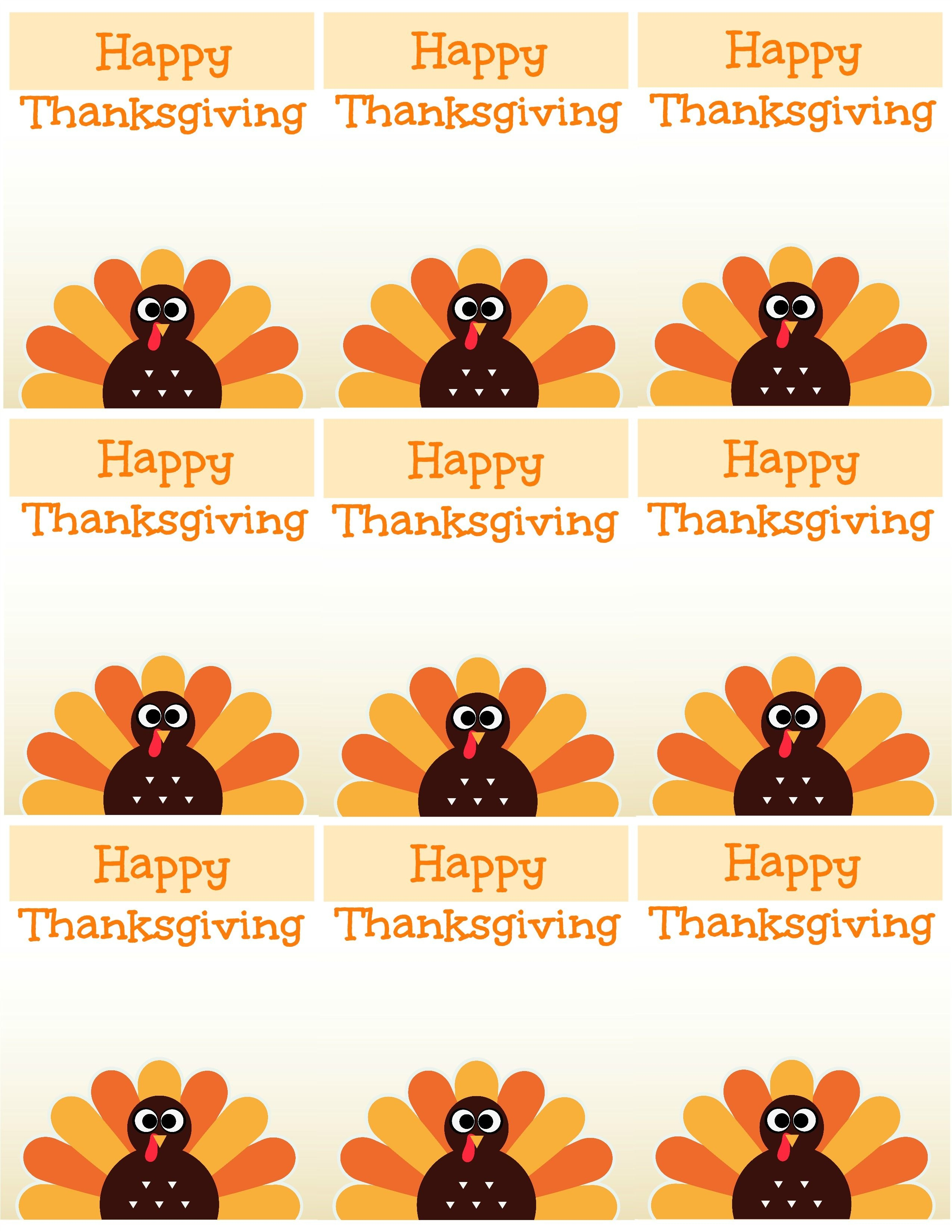 Free Printable Thanksgiving Place Cards -- Also Great For Cupcake - Happy Thanksgiving Cards Free Printable