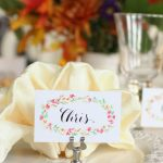 Free Printable Thanksgiving Place Cards | Watercolor Florals   Free Printable Thanksgiving Place Cards