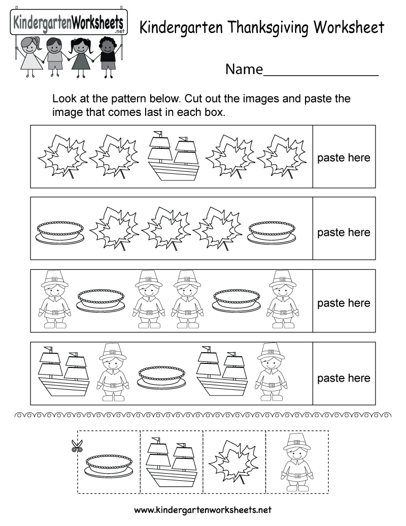 Free Printable Thanksgiving Worksheet For Kindergarten - Free Printable Thanksgiving Worksheets