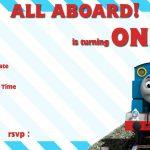 Free Printable Thomas The Train 1St Birthday | Alex Turns 1   Thomas Invitations Printable Free