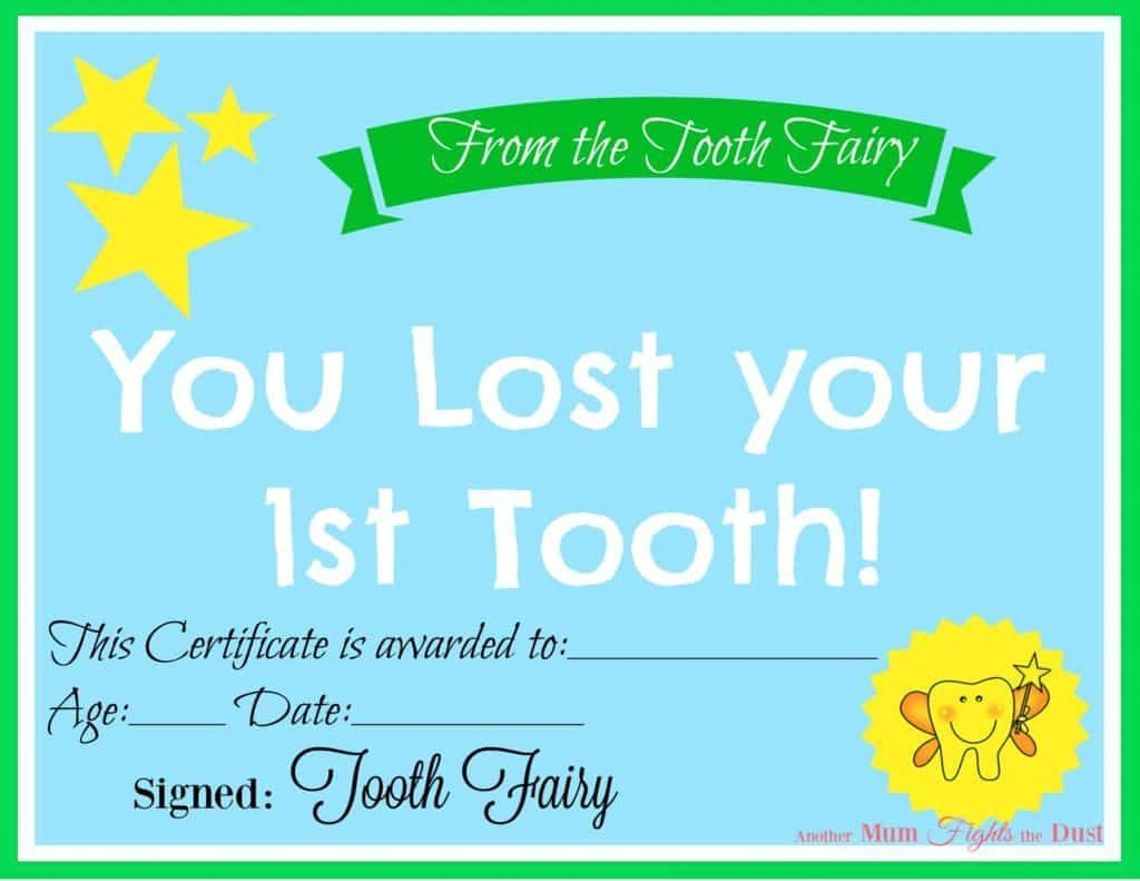 Free Printable Tooth Fairy Certificate | 40 | Tooth Fairy - Free Printable First Lost Tooth Certificate